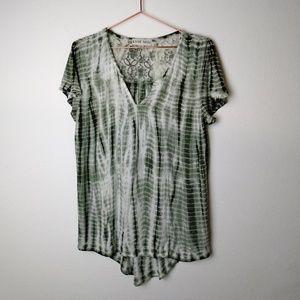 Knox Rose Tie Dyed Boho blouse